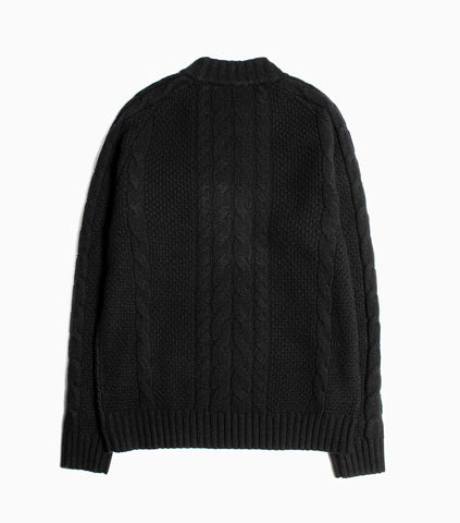 Wood Wood Calvin Knitted Lambswool Sweater - Black Knitwear - CARTOCON