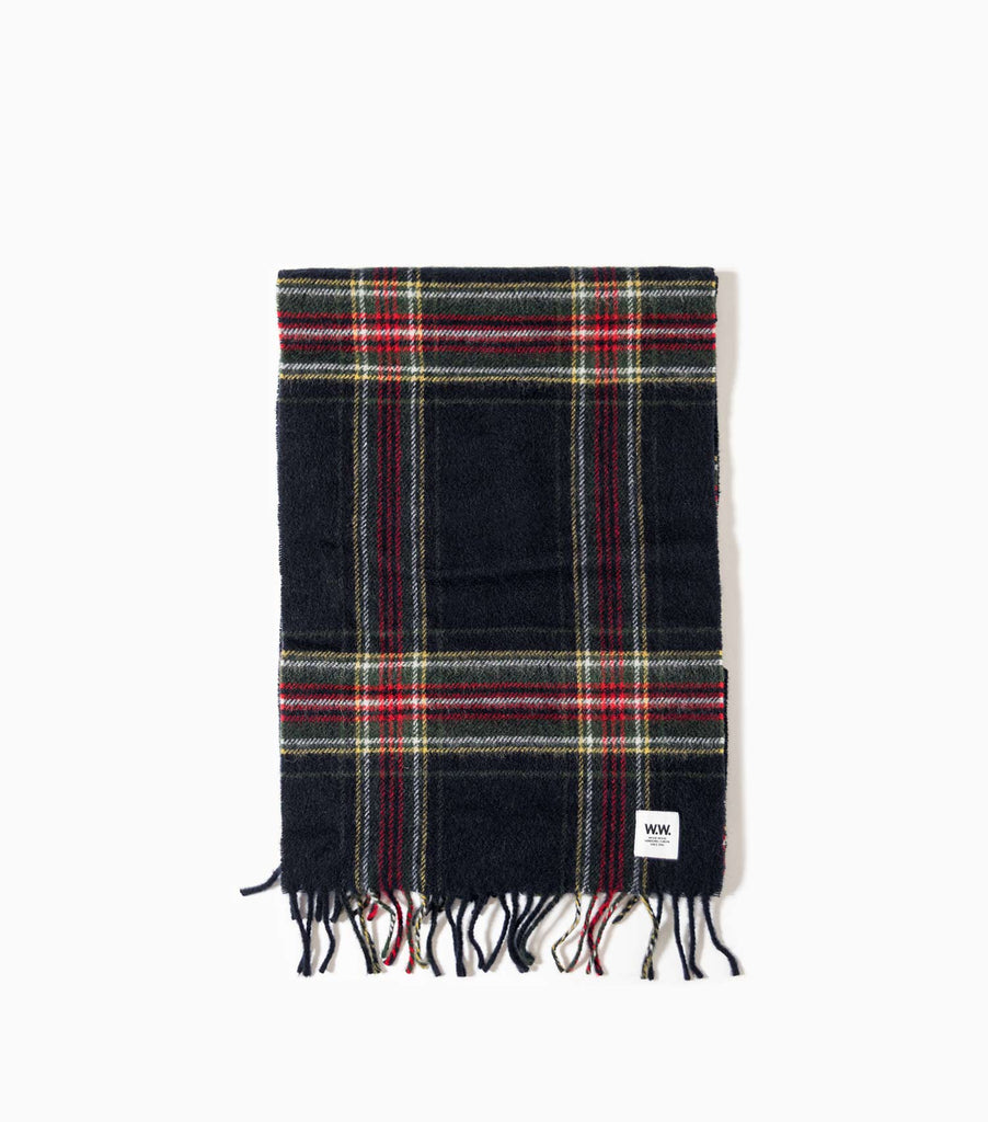 Wood Wood Karlo Scarf - Navy Check