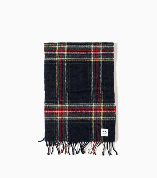 Wood Wood Karlo Scarf - Navy Check Scarf - CARTOCON