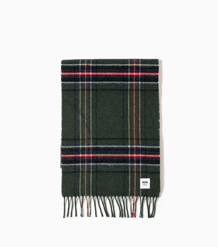 Wood Wood Karlo Scarf - Green Check