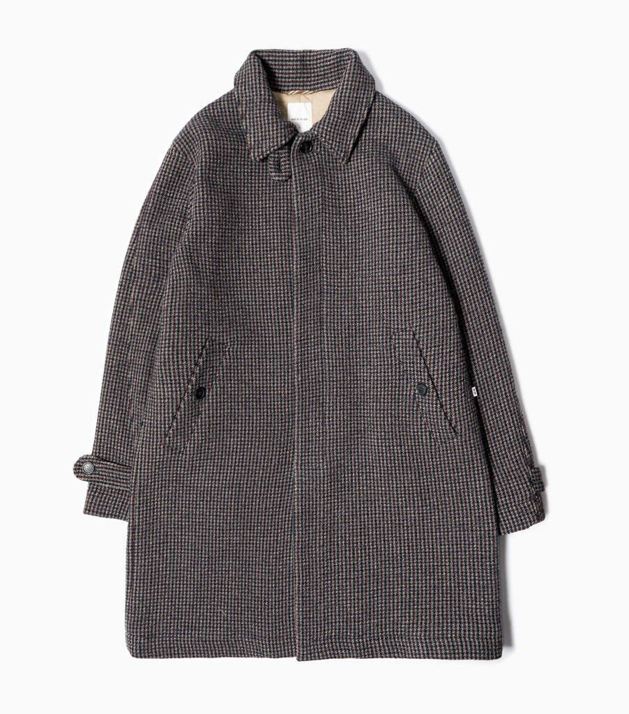 Wood Wood Didrik Classic Check Overcoat - Grey Check