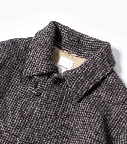 Wood Wood Didrik Classic Check Overcoat - Grey Check Jacket - CARTOCON