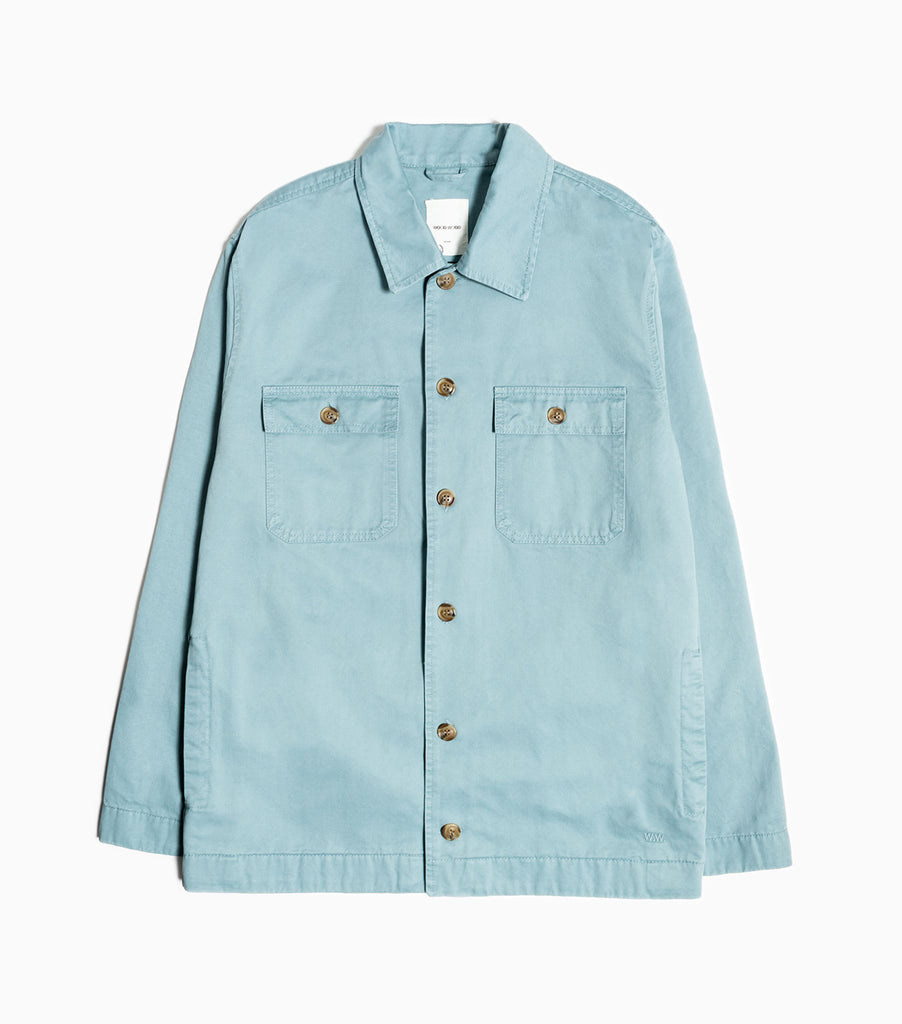 Wood Wood Fabian Overshirt - Dusty Blue