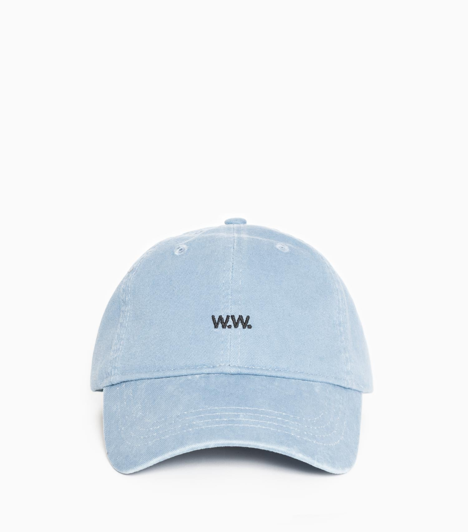 Wood Wood Low Profile Cap - Dusty blue