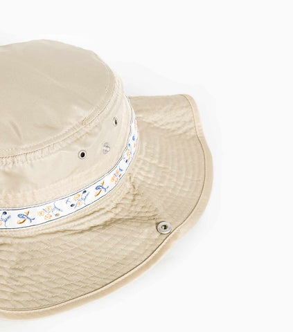 Wood Wood Forest Wide Bucket Hat - Sand Hat - CARTOCON