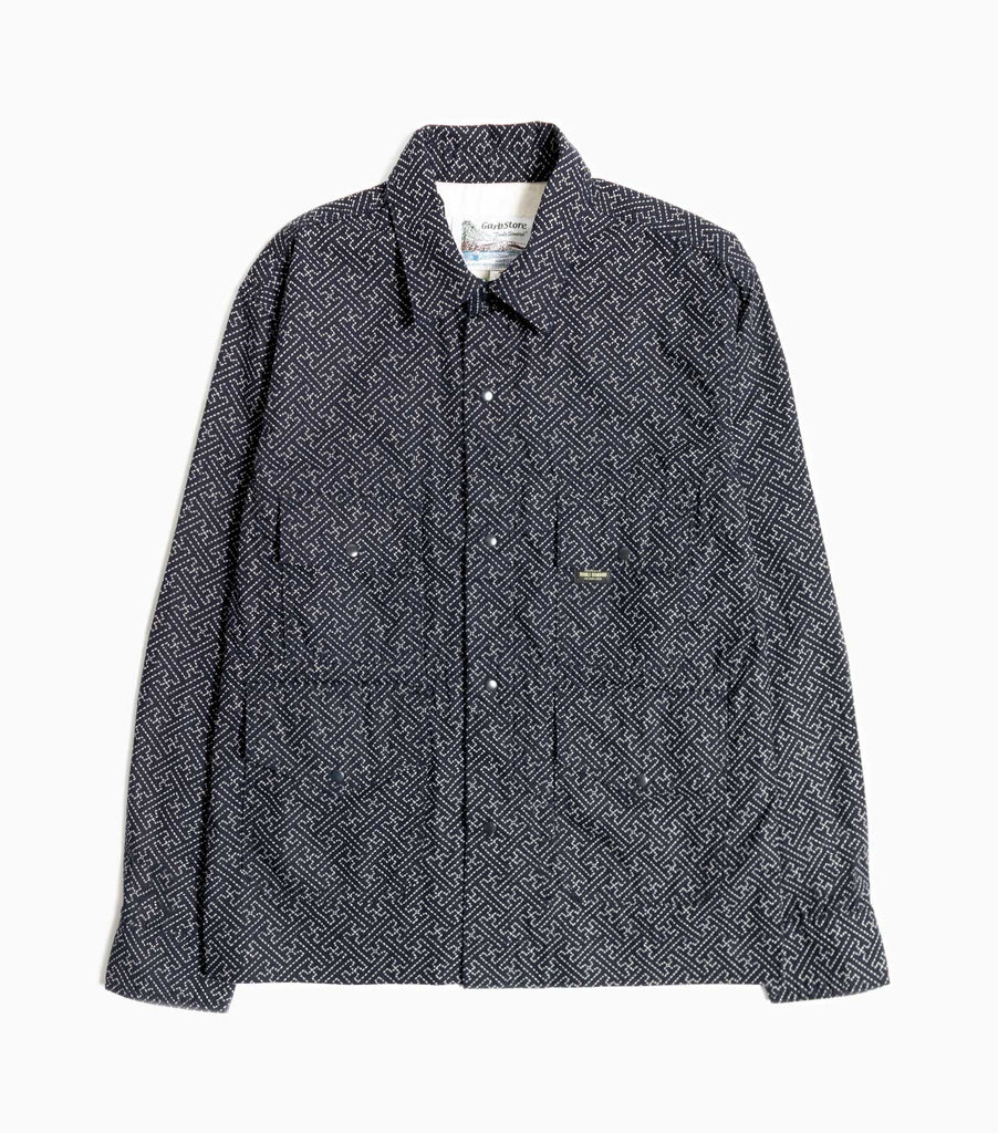 Garbstore Flight Shirt - Navy - Japanese Stitch