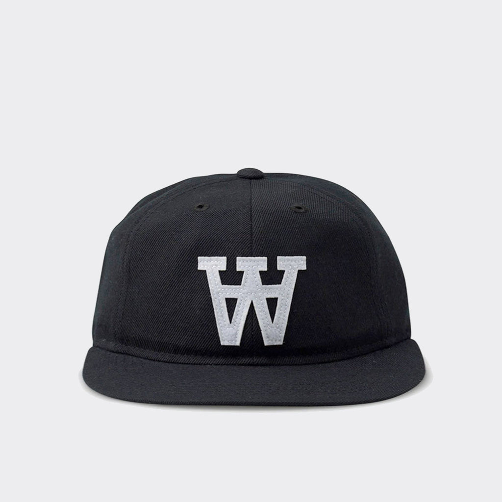 Wood Wood AA Logo Baseball Cap - Black