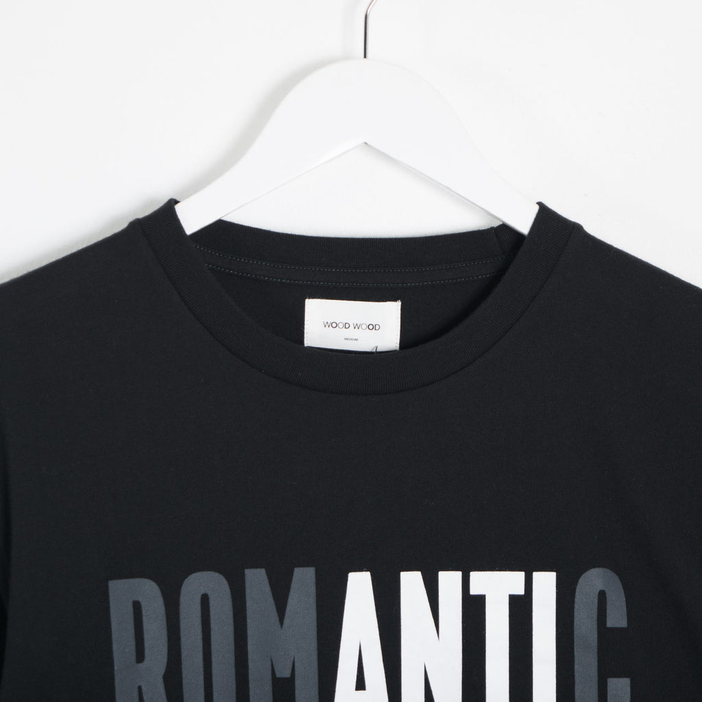 Wood Wood Anti Romantic T-Shirt - Black