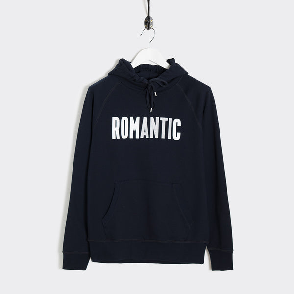 Wood Wood Fred Romantic Hoodie - Navy  - CARTOCON