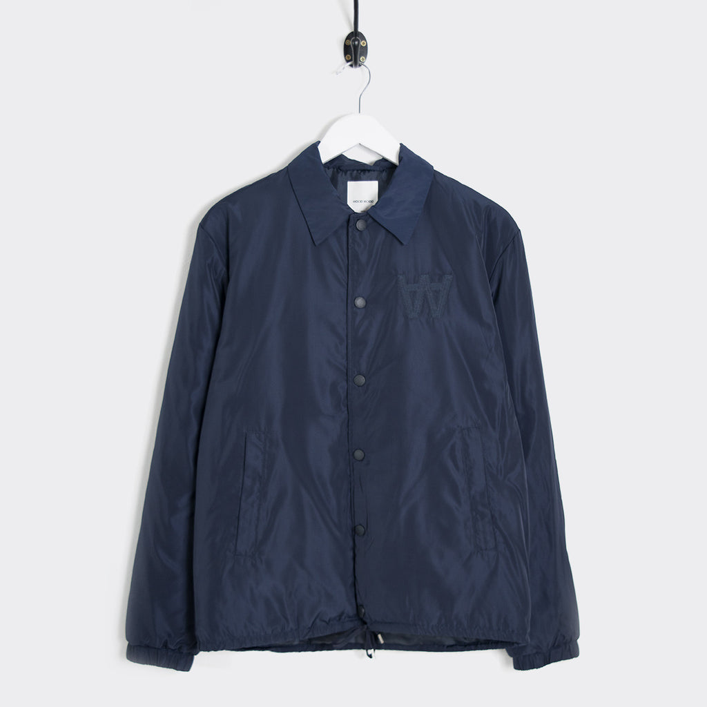 Wood Wood Kael Nylon Coach Jacket - Navy