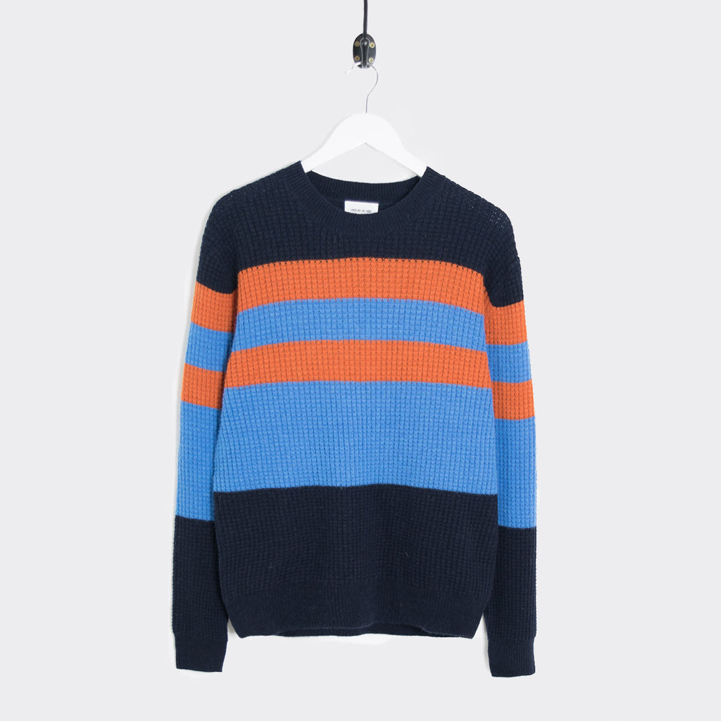 Wood Wood Kurt Knitted Sweater - Navy Stripes