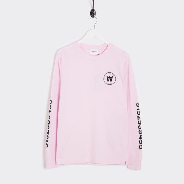 Wood Wood Han Long Sleeve T-Shirt - Rose T-Shirt - CARTOCON