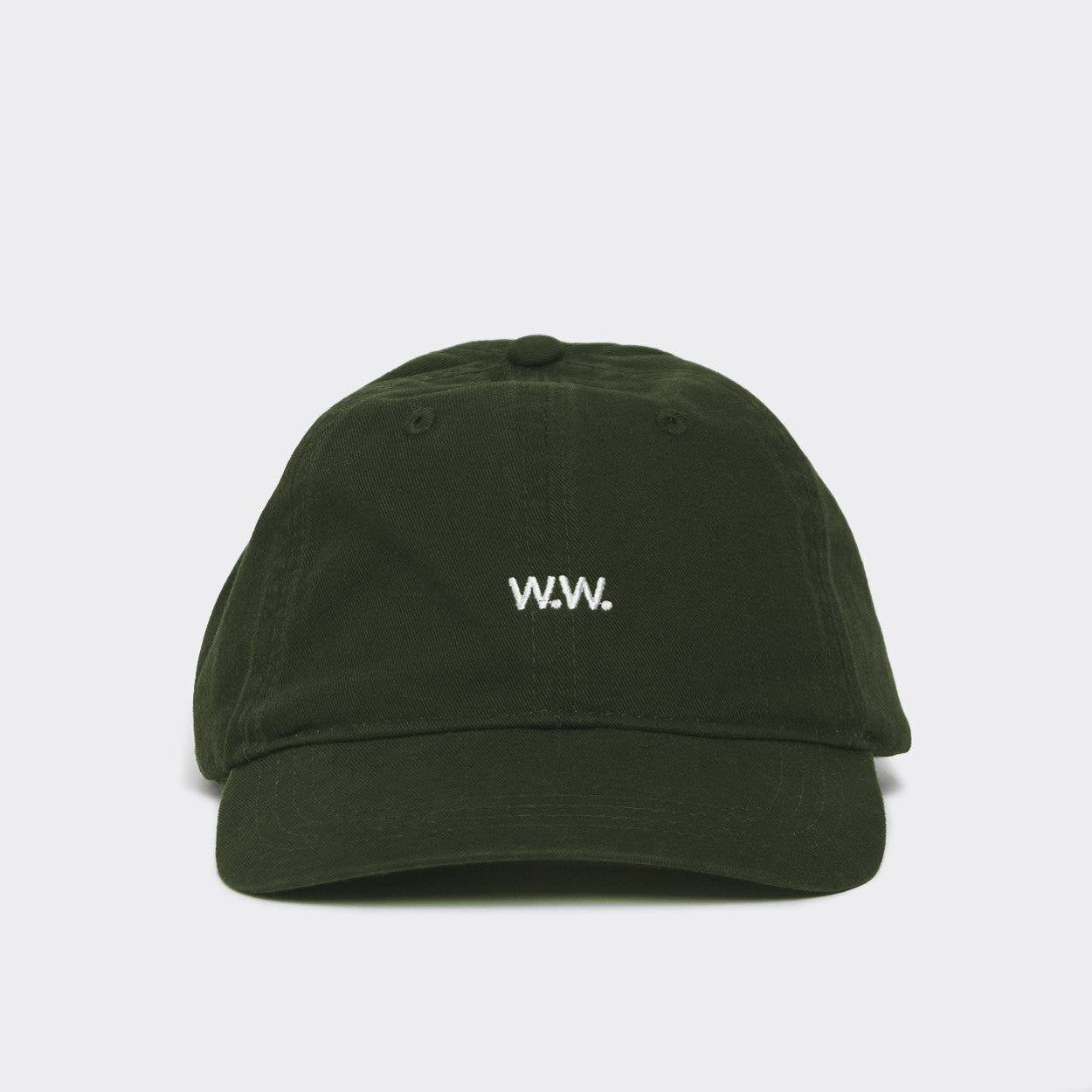 Wood Wood Low Profile Cap - Dark Green