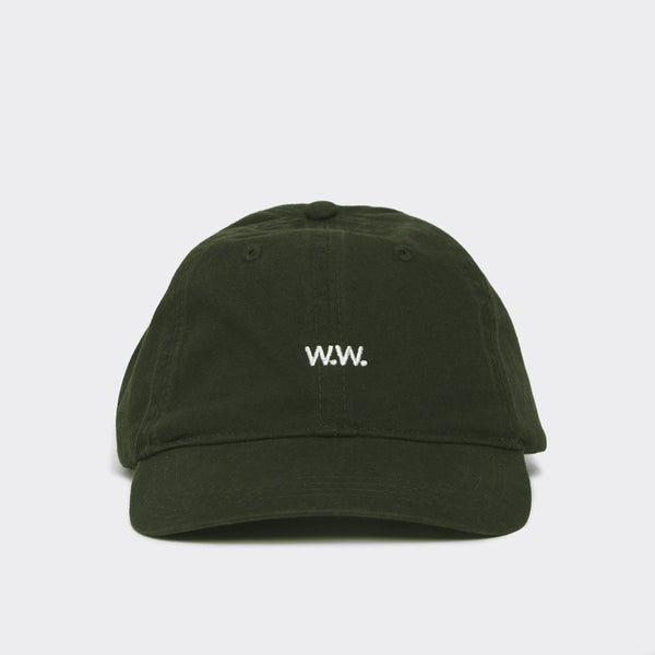 Wood Wood Low Profile Cap - Dark Green Hat - CARTOCON