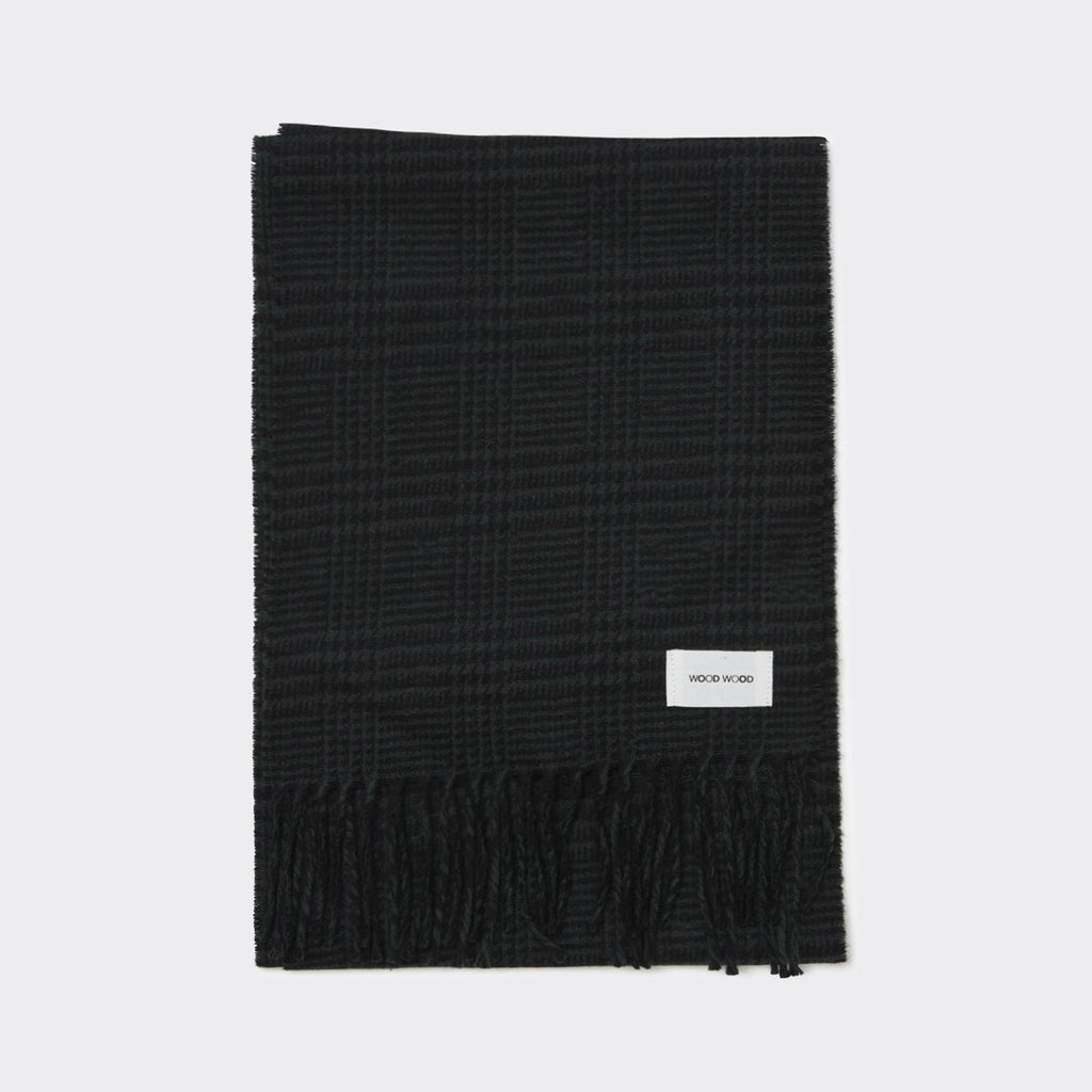 Wood Wood Karlo Scarf - Black Check