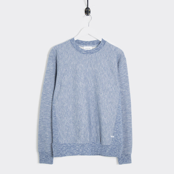Wood Wood Larry Marl Sweatshirt - Estate Blue Melange