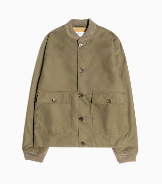 YMC Patch Pocket Turf Bomber Jacket - Green Jacket - CARTOCON