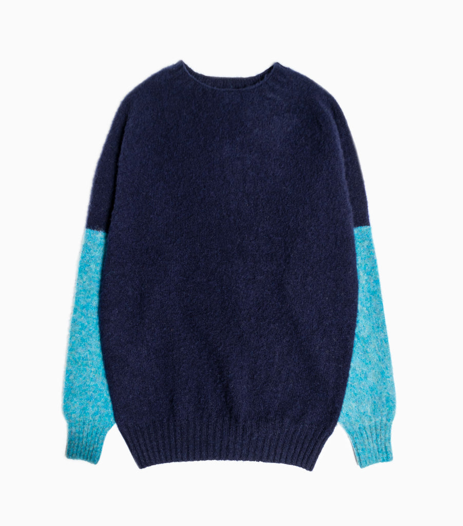 YMC Skate or Die Kitted Jumper - Navy/Blue