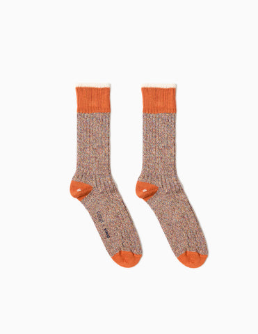 YMC Twisted Yarn Socks - Orange