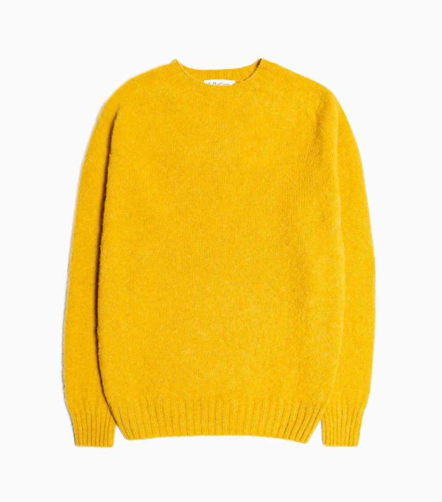 YMC Suedehead Crew Kitted Jumper - Yellow