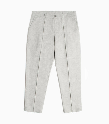 YMC Hand Me Down Flannel Trousers - Grey Trousers - CARTOCON