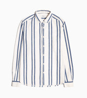 YMC Dean BD Stripe Shirt - Blue Shirt - CARTOCON