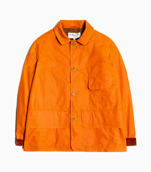 YMC House Waxed Cotton Coat - Orange Jacket - CARTOCON
