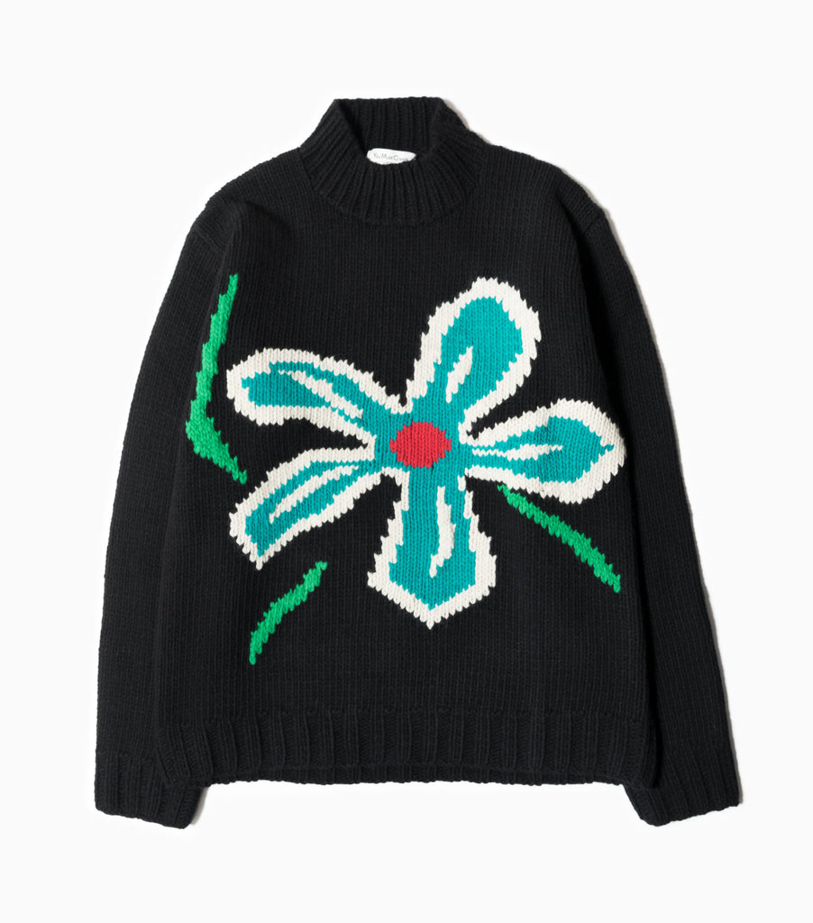 YMC Daisy Turtle Neck Knit - Black