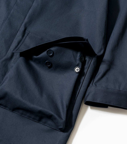 YMC Tally Ho Overcoat - Navy Jacket - CARTOCON