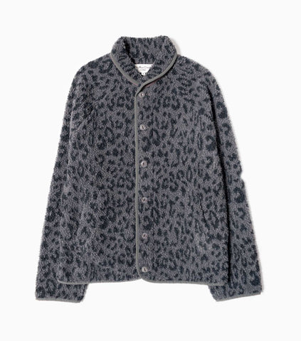 YMC Beach Leopard Fleece Jacket - Charcoal/Navy Jacket - CARTOCON