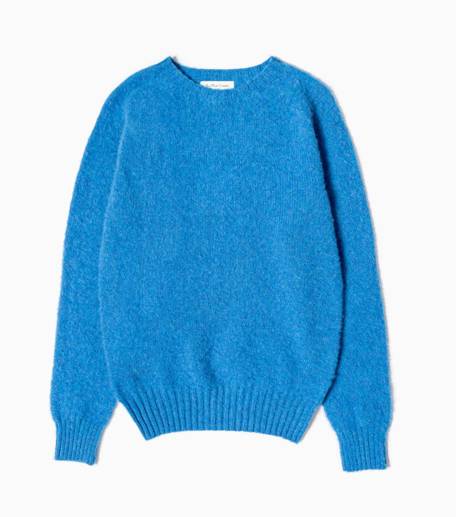 YMC Suedehead Crew Knitted Jumper - Blue