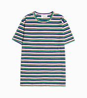YMC Slub Melange Stripe Wild Ones T-Shirt - Multi T-Shirt - CARTOCON