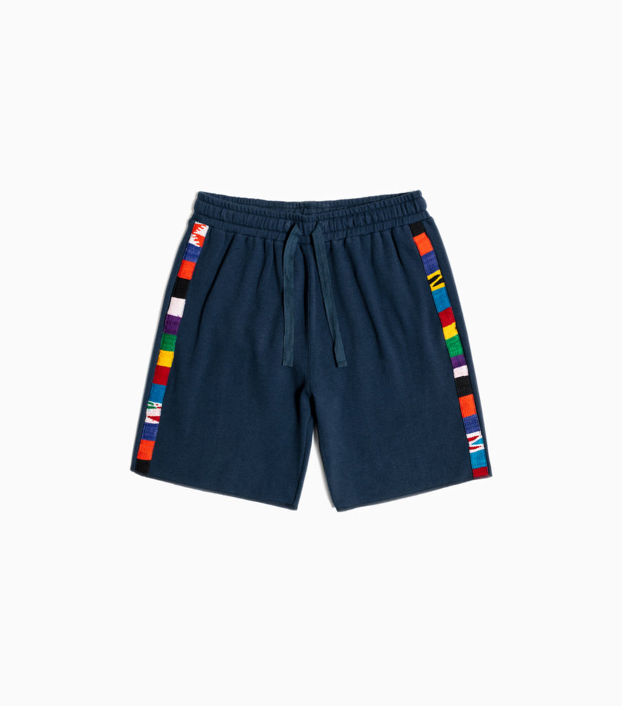 YMC Carlos Cotton Twill Jersey Shorts - Navy