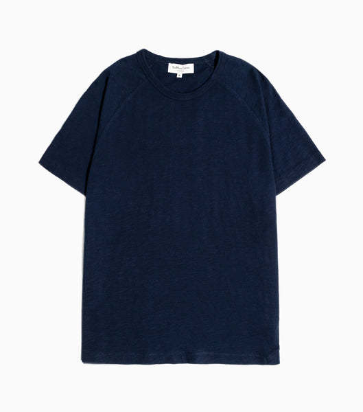 YMC TV Raglan Slub Jersey T-Shirt - Navy T-Shirt - CARTOCON