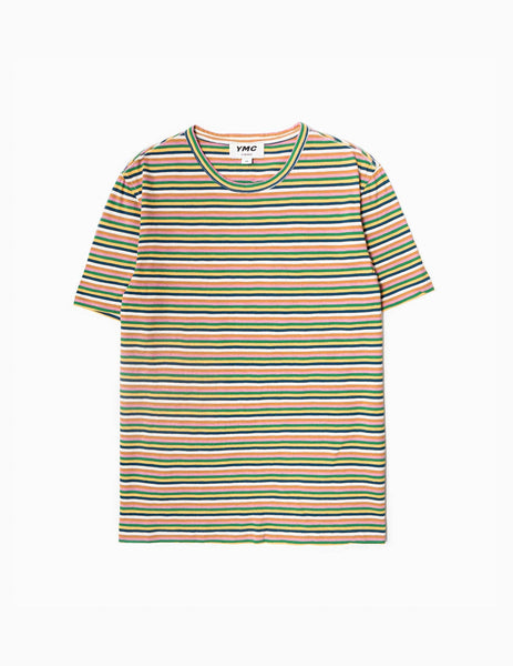 YMC Wild Ones Slub Stripe T-Shirt - Multi T-Shirt - CARTOCON