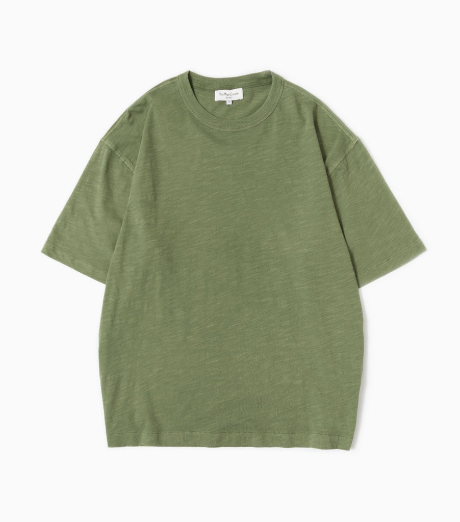 438df68d YMC Oversized Slub Jersey Triple Short Sleeve T-Shirt - Olive Green