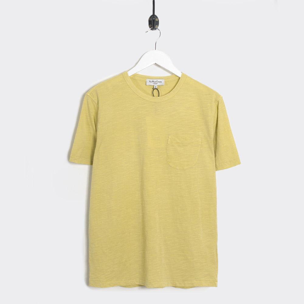 YMC Wild Ones Pocket T-Shirt - Yellow - 1