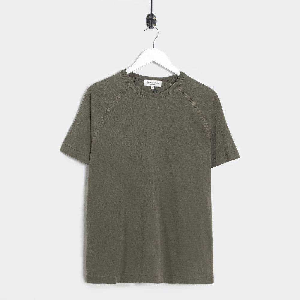 YMC Television T-Shirt - Olive - 1