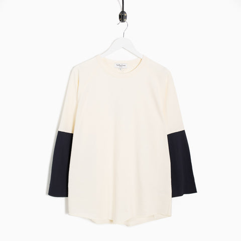 YMC Szabo Heavy Slub Jersey Sleeve Top - Ecru Not Listed - CARTOCON