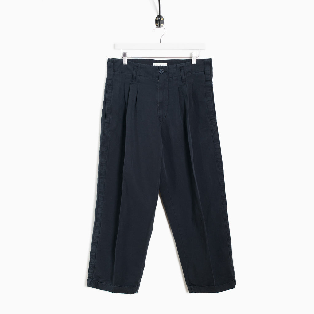 YMC Creole Sateen Cotton Trouser - Navy