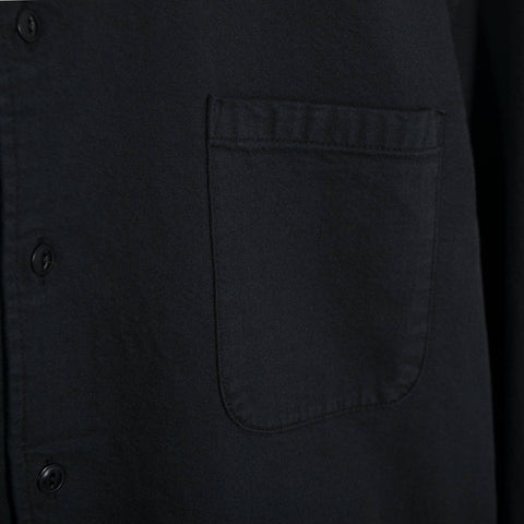 YMC Jan & Dean Shirt - Black Natural Chambray Shirt - CARTOCON
