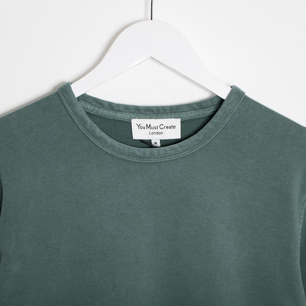 YMC Almost Grown Sweatshirt - Green - 3