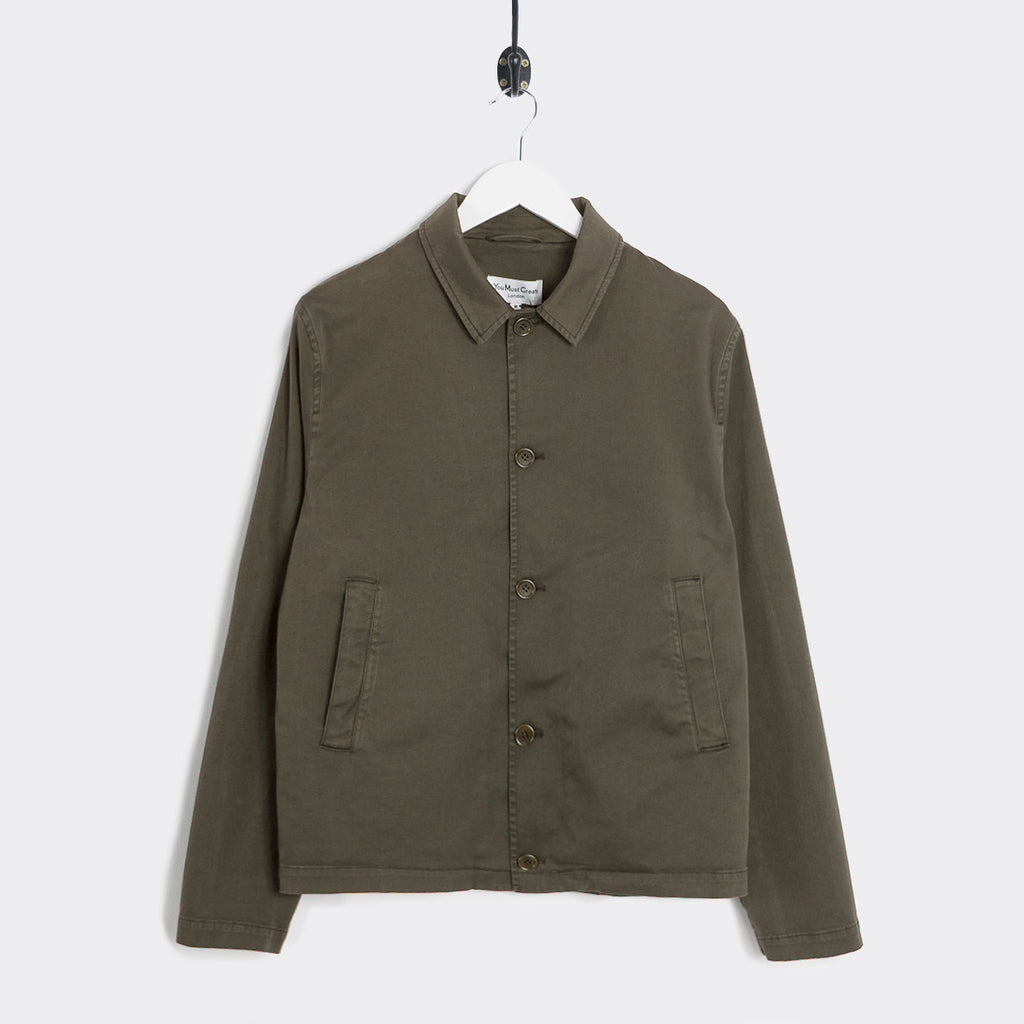 YMC Groundhogs Garment Dye Twill Jacket - Olive