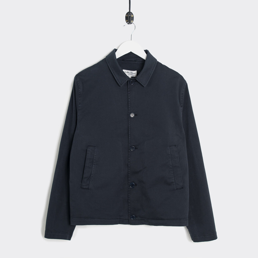 YMC Groundhogs Garment Dye Twill Jacket - Navy