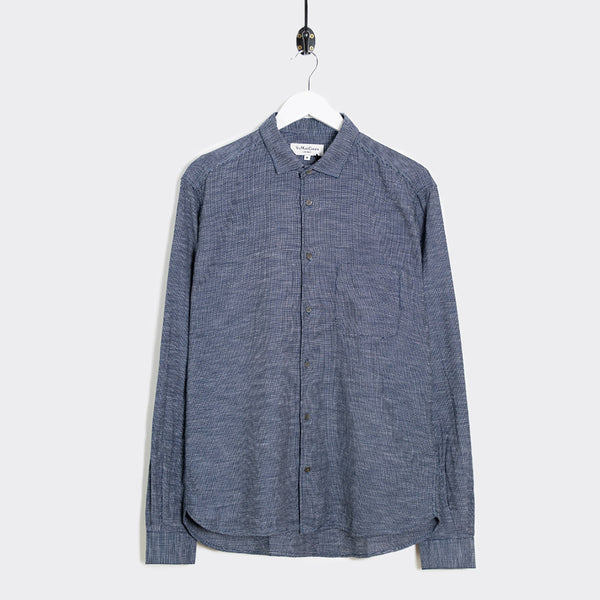 YMC Curtis Shirt - Navy  - CARTOCON