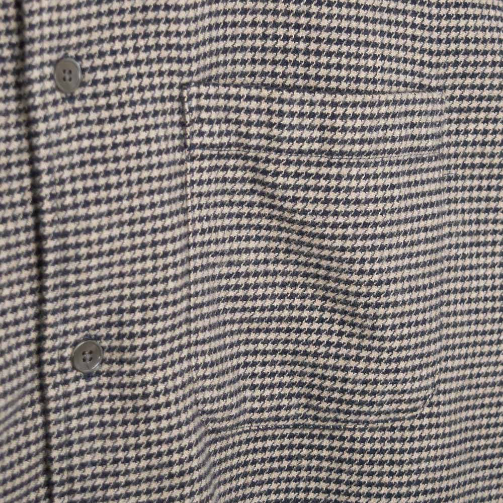 YMC Curtis Shirt - Navy - Dogtooth Flannel - 5