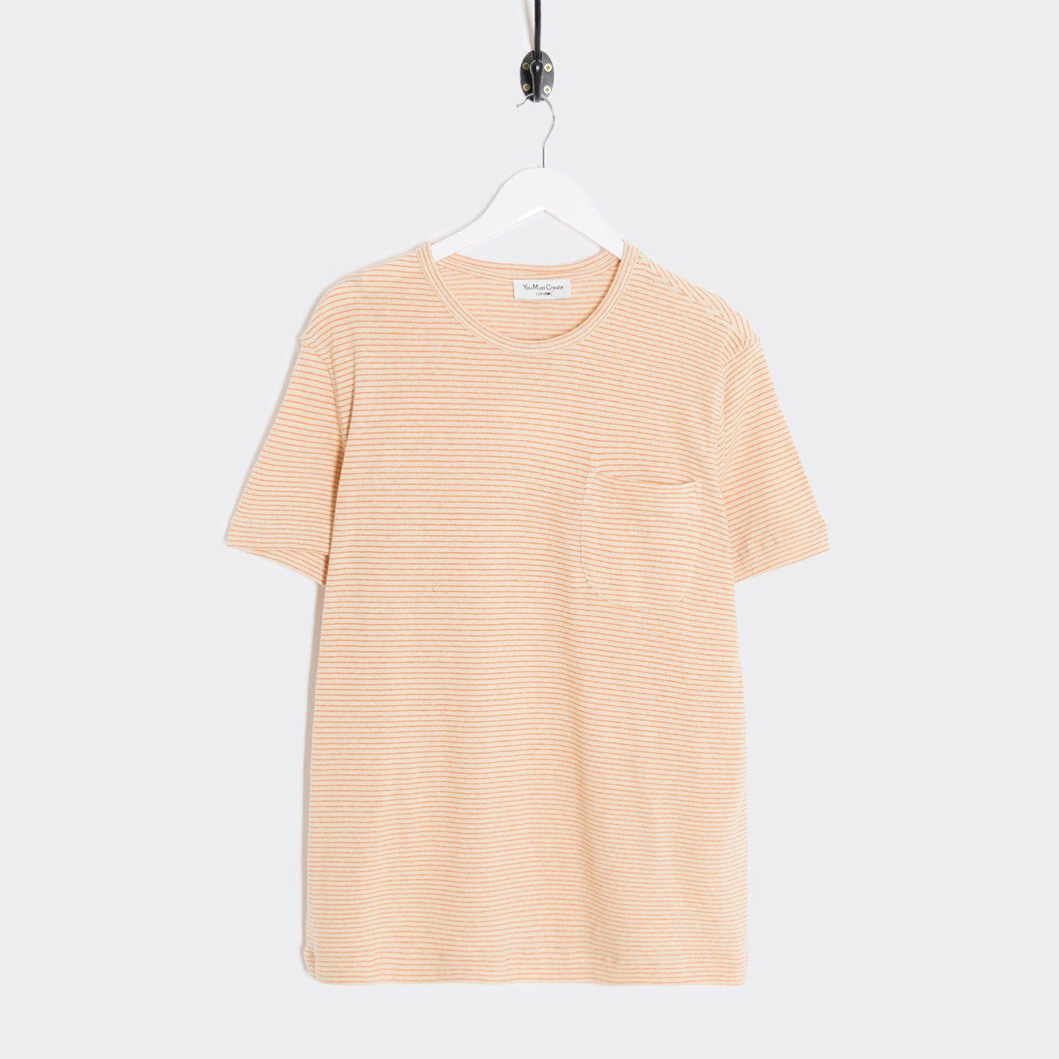 YMC Henri T-Shirt - Ecru/Orange