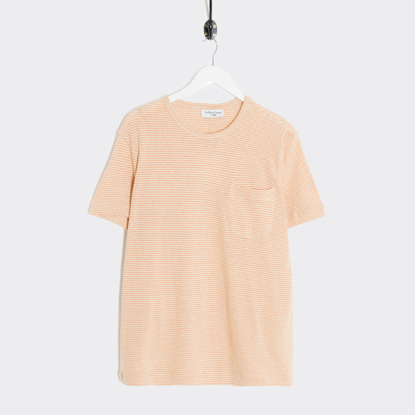 YMC Henri T-Shirt - Ecru/Orange T-Shirt - CARTOCON