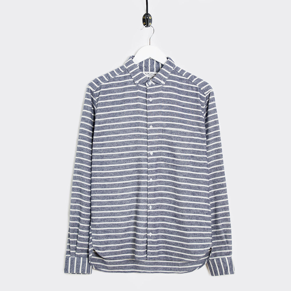 YMC Jan & Dean Flannel Stripe Shirt - Navy - 1