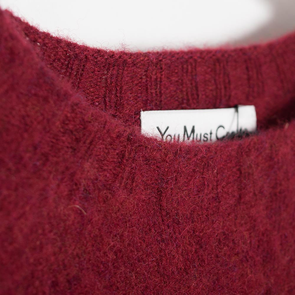 YMC Suedehead Brushed Knit - Red - 3
